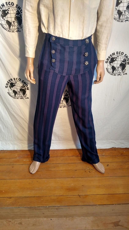 Mens doyble fly Steampunk Pants 32 USA