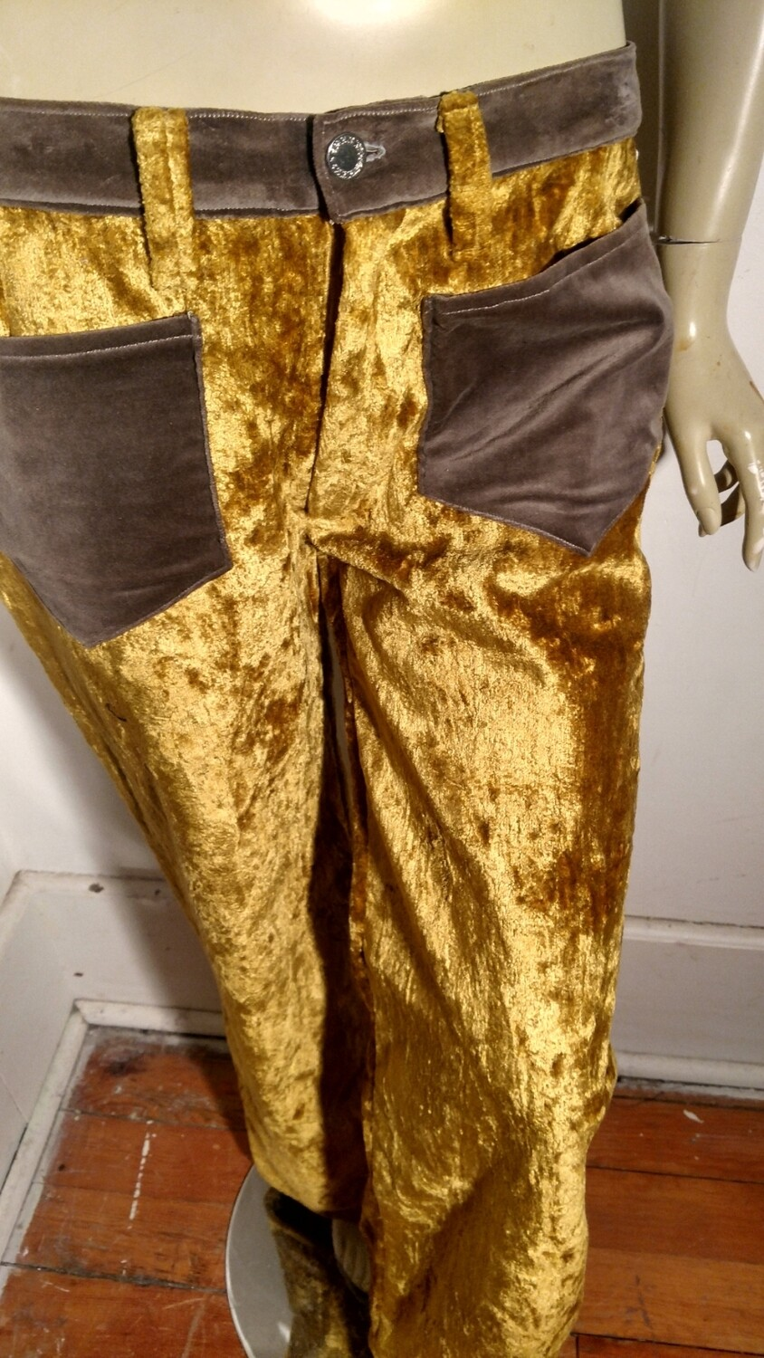 Womens velvet gold pants S USA