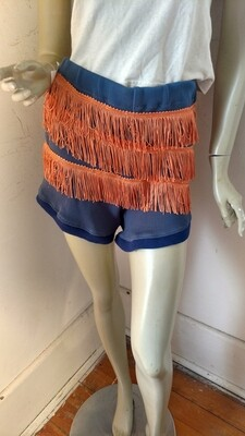 Hermans fringed hot pants shorts Med USA