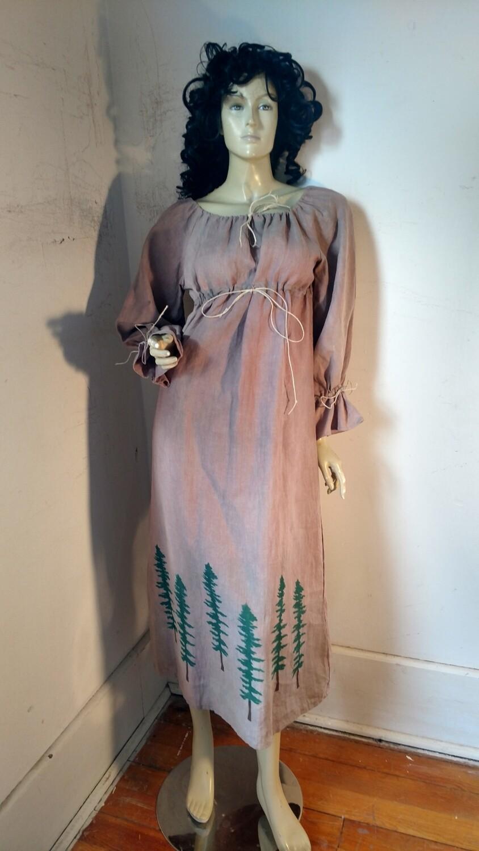 Hermans Hemp Airbrushed Ren Dress M
