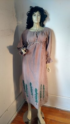 Hermans Hemp Airbrushed Ren Dress M