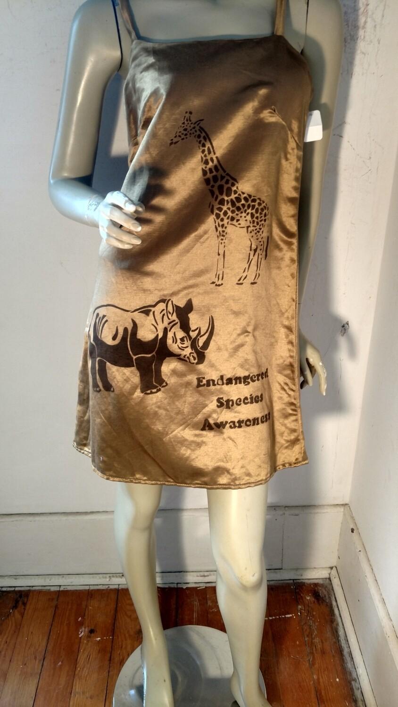 Hermans Hemp Hemp silk endangered dress M