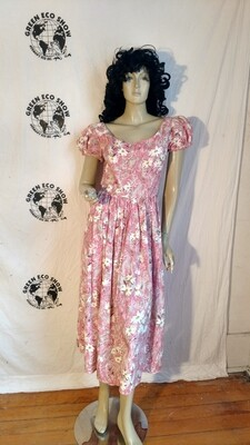 Pink flowered S dress Hermans USA
