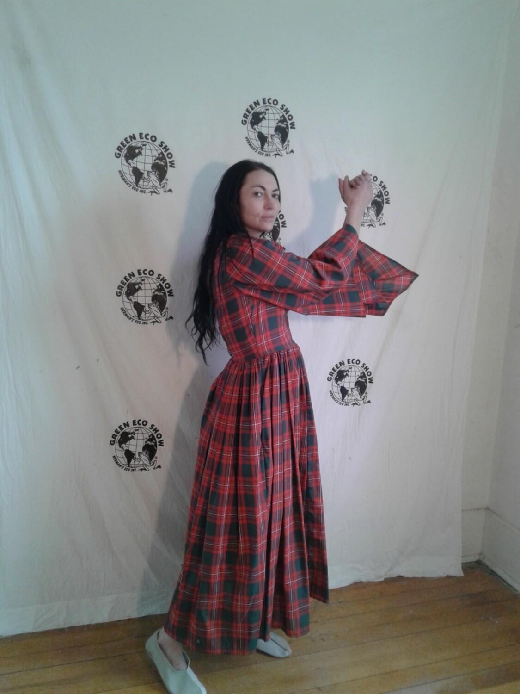 Plaid Renaissance Dress S  Anna Herman USA