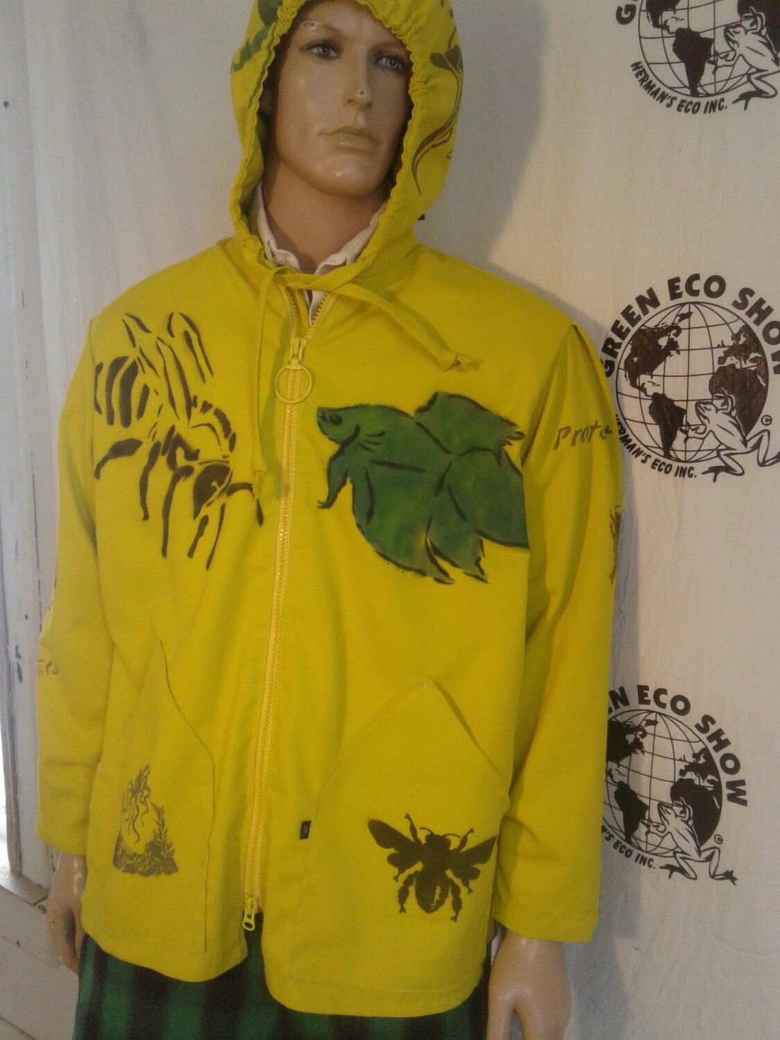Mens Grafitti Jacket Hermans Eco med USA