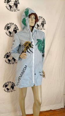 Grafitti dress Hermans M hoody jacket Blue Striped