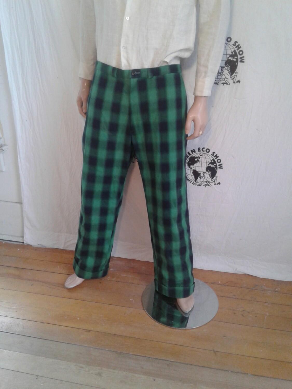 Plaid Steampunk Pants Hermans USA 36x32