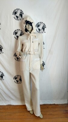 White wool womens jumpsuit skiing M Hermans