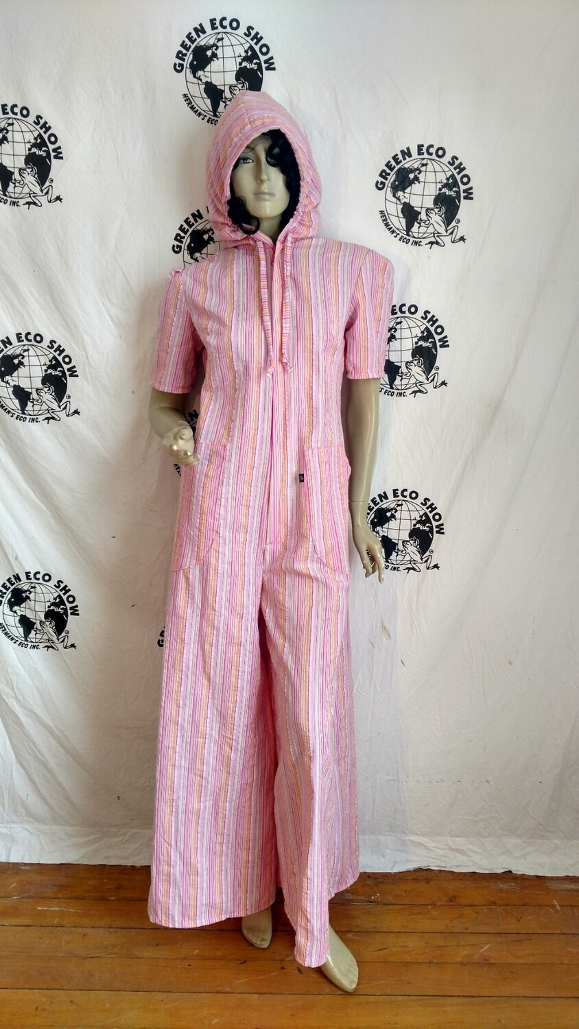 Hermans Eco womens Jumpsuit striped USA Medium