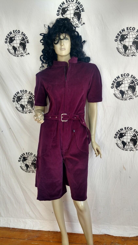 Purple short jumpsuit velveteen M short USA