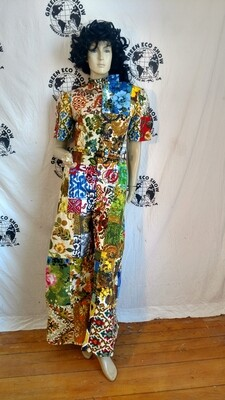 Womens patchwork jumpsuit s to m USA