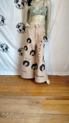 Black woman boss bell bottoms 29 Hermans  Airbrushed grafitti