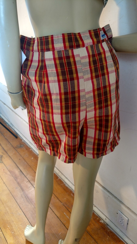 Womens plaid shirt L 32 vtg demin Hermans USA