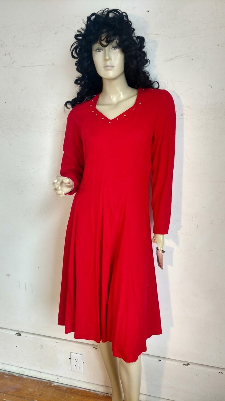 Red silk dress Hermans med USA