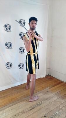 Gold mens Romper striped L USA
