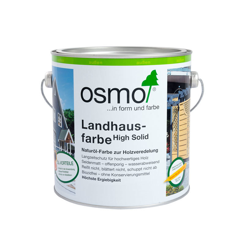 OSMO Landhausfarbe 2703 Schwarzgrau, 2,5 L 207260045