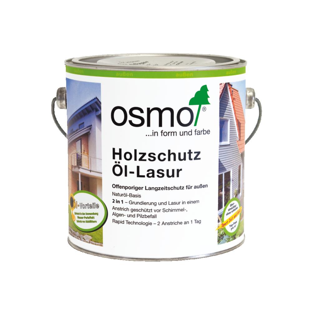 OSMO Holzschutz Öl-Lasur 907 Quarzgrau, 2,5 L 207260119