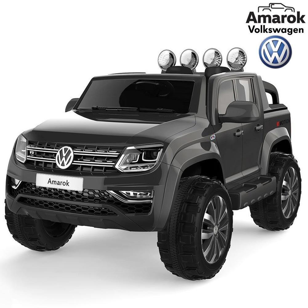 AUTO ELETTRICA PER BAMBINI Volkswagen Amarok Pickup 12v 2 POSTI 4X4 PRODOTTO LICENZIATO
