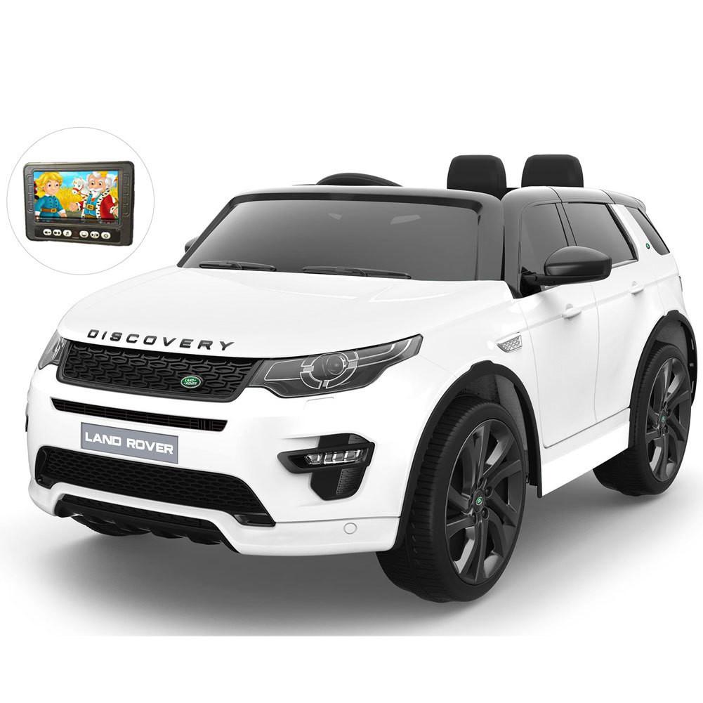 AUTO ELETTRICA PER BAMBINI Land Rover Discovery 12v 2 POSTI CON TV TOUCH SCREEN PRODOTTO LICENZIATO