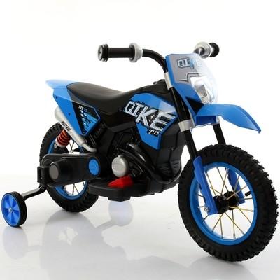 MOTO ELETTRICA PER BAMBINI MOTO Cross Baby 6v CON RUOTE IN GOMMA GONFIABILI