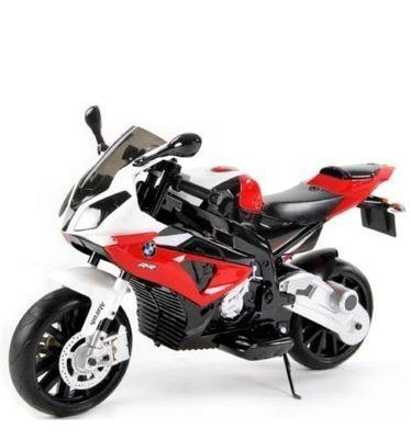 MOTO ELETTRICA PER BAMBINI Bmw SUPER SPORT S1000 RR 12v 2 MOTORI RUOTE IN GOMMA  CON ROTELLE PRODOTTO LICENZIATO