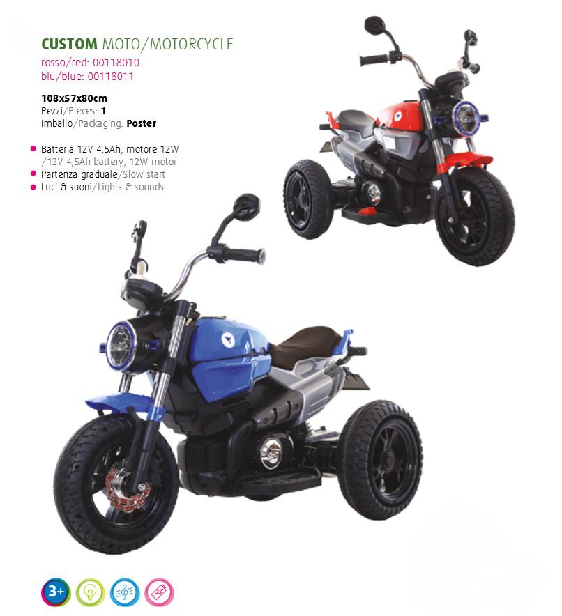 MOTO MOTOCICLETTA PER BAMBINI Custom 12v