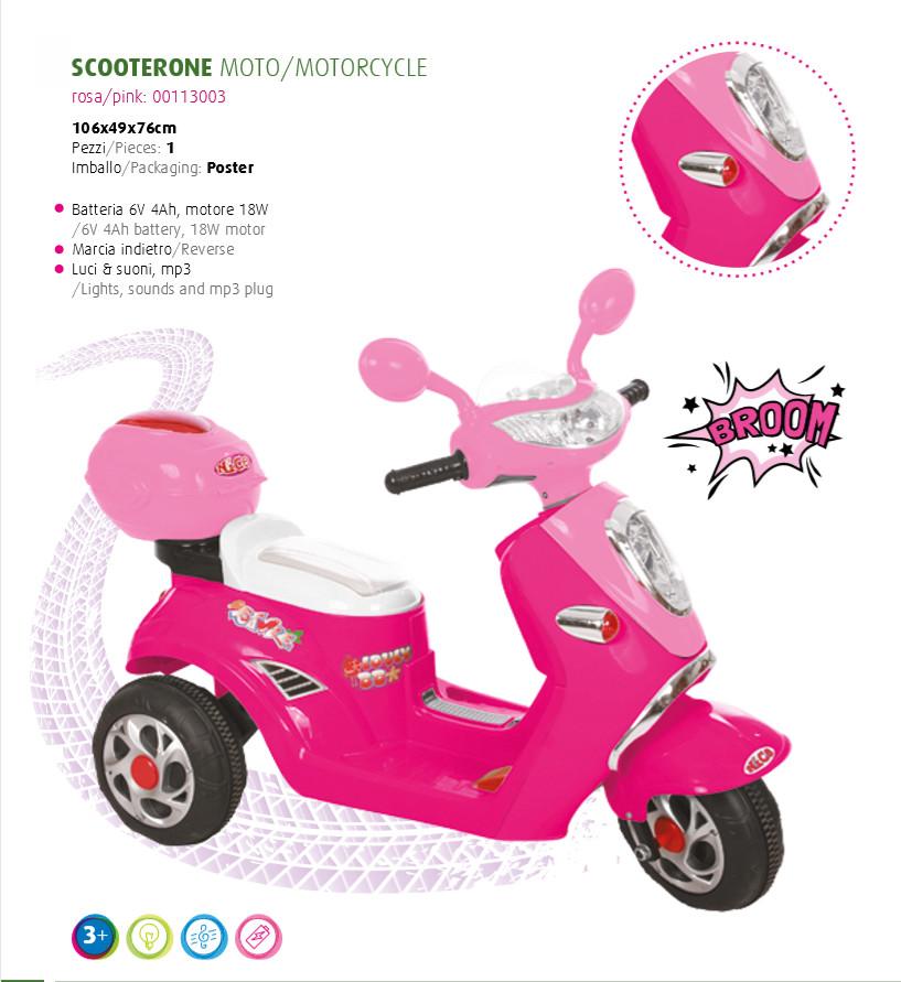 MOTO MOTOCICLETTA PER BAMBINI Scooterone 6v
