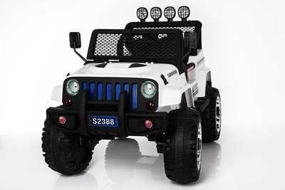 AUTO MACCHINA ELETTRICA PER BAMBINI Jeep Sport 12v 4x4 + SEDILE IN PELLE 2 posti