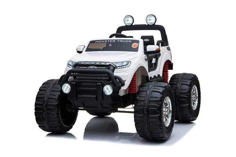 AUTO MACCHINA ELETTRICA PER BAMBINI Ford Monster Truck 12v 2 POSTI 4X4 RUOTE IN GOMMA PRODOTTO LICENZIATO