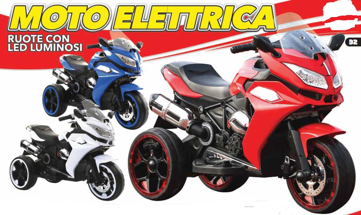 MOTO MOTOCICLETTA ELETTRICA PER BAMBINI MODELLO Super Speed 12v CON RUOTE LUMINOSE