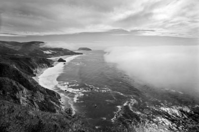 Big Sur Incoming Fog - Coastline California