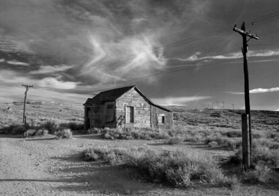 Ghost Town Powerlines, Bodie - California