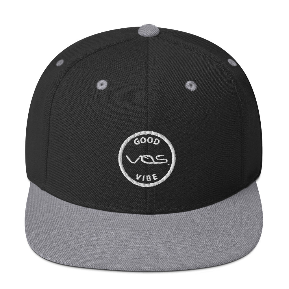 Snapback Cap│Good Vibe│Gray Logo
