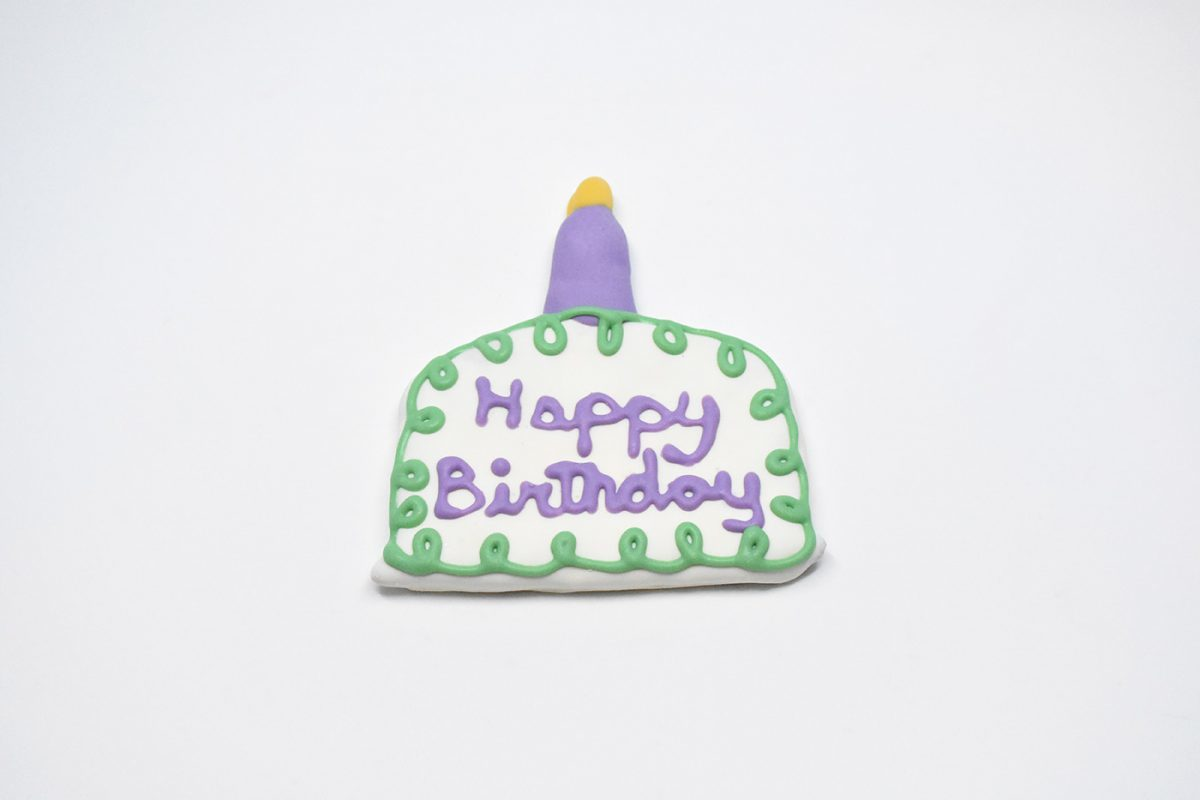 Birthday Cake with Candle Cookie 00062