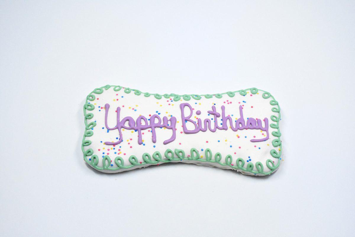 Yappy Birthday Bone Cookie 00113