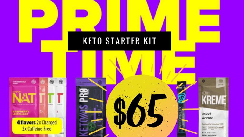 ☑️PRIME TIME KETONE STARTER KIT + 7 DAY MEAL PLAN!