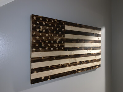 USA Rustic Flag