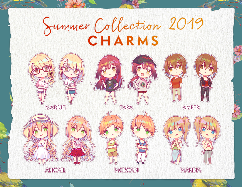 (Preorder) Summer 2019 Keychains (2 inch) summer19keychains