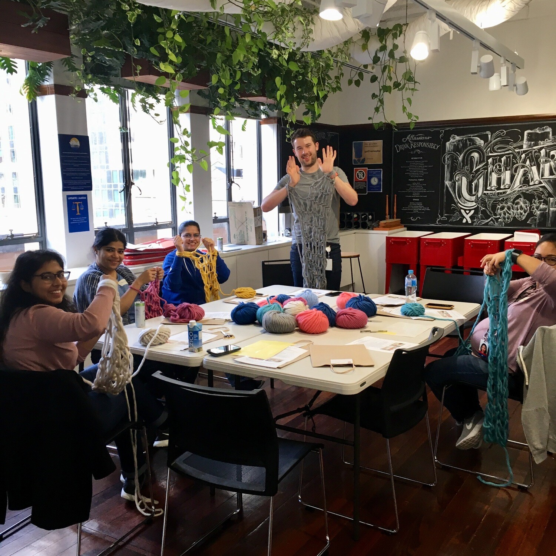 Art of Arm Knitting Workshop 12 June | Corporate Workshop