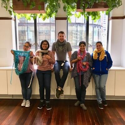 Art of Arm Knitting Workshop 14 June | Corporate Workshop