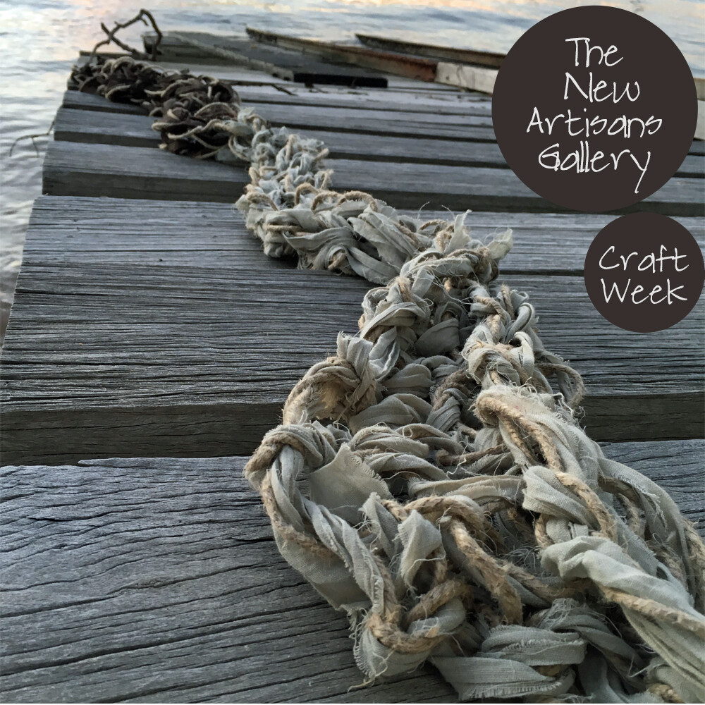 Art of Arm Knitting Workshop - Spring Linen and Fabric  Scarf  Sat 20 Oct | Milson's Point, The New Artisans Gallery