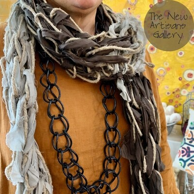 Art of Arm Knitting Workshop - Spring Linen and Fabric  Scarf 22 Feb 2020 at 10am - 1pm, Milson's Point, The New Artisans Gallery