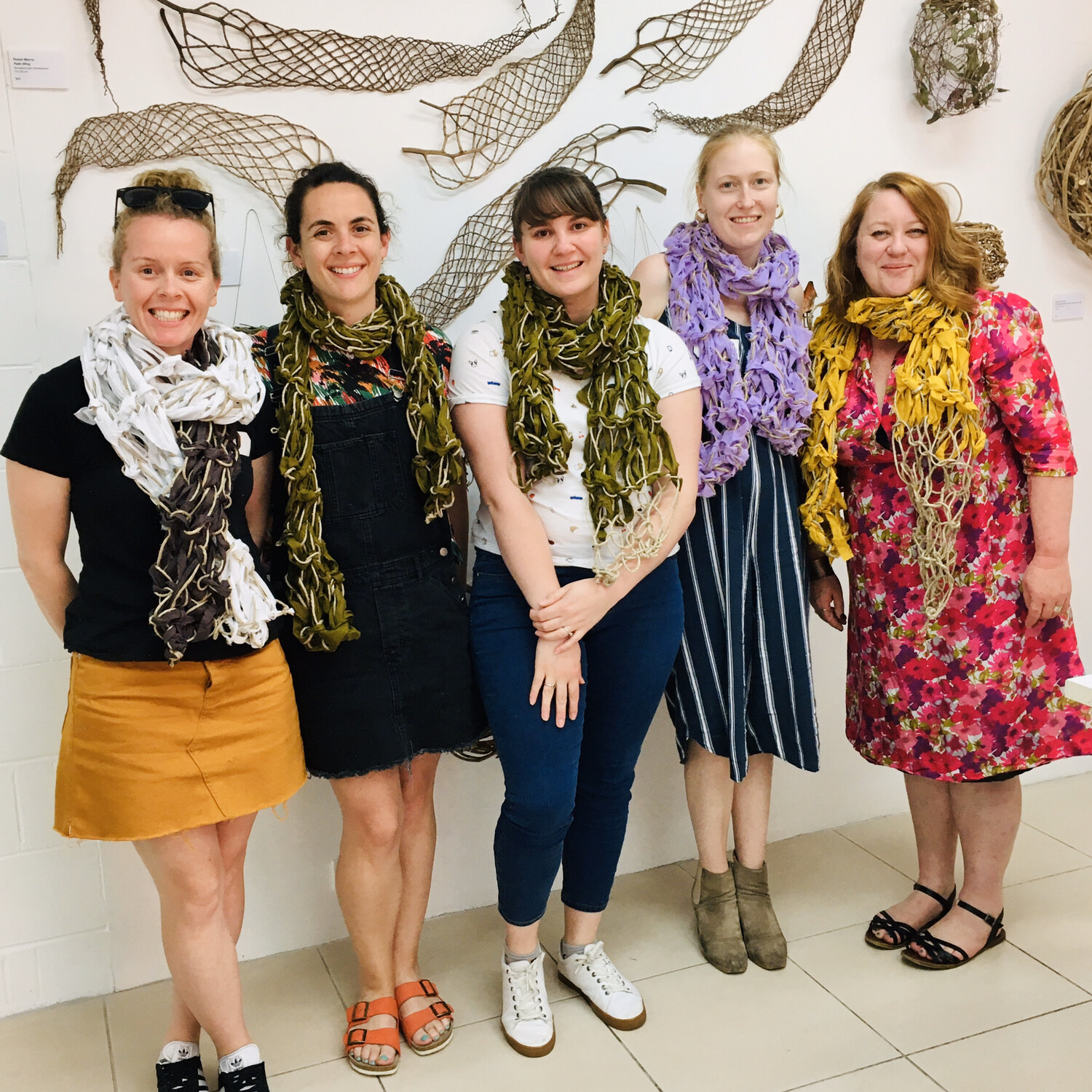 Art of Arm Knitting Workshop - Spring Linen and Fabric  Scarf  Saturday 20 October 19 | Milson's Point, The New Artisans Gallery