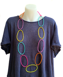 Necklace | Circles | Coloured | Silicone | Medium