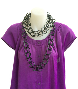 Necklace | Weave | Black | Hand Woven | Silicone | Long