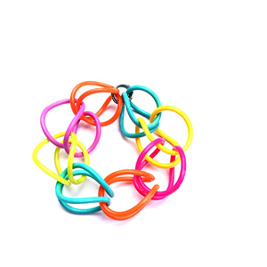 Bracelet | Weave | Coloured | Hand Woven | Silicone