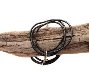 Bracelet | Circles | Black | Silicone