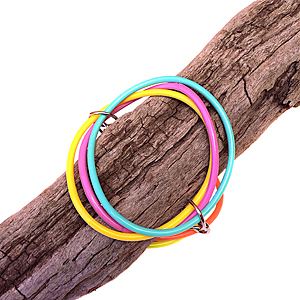 Bracelet | Circles | Coloured | Silicone