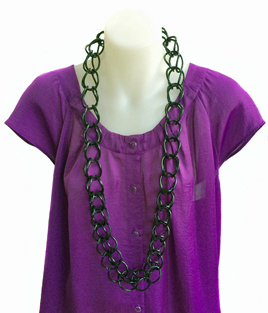Necklace | Weave | Black | Hand Woven | Silicone | Medium