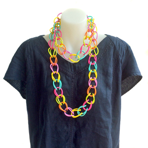 Necklace | Weave | Coloured | Hand Woven | Silicone | Long